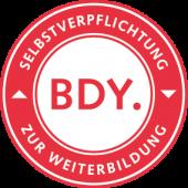 Ursula (Usha) Hoernes hat die Selbstverpflichtung zur Weiterbildung des BDY unterzeichnet.